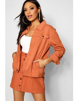 Tobacco Oversized Denim Jacket by Boohoo