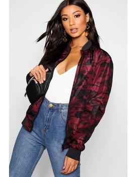 Coloured Camo Oversized Bomber by Boohoo