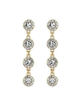 The Collection   Gold Crystal Halo Drop Earrings by The Collection