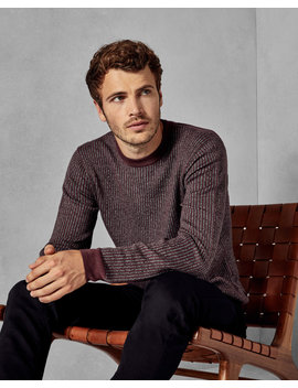 Striped Stitch Jumper by Ted Baker