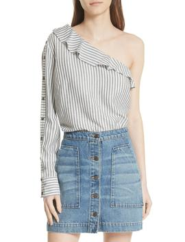 Luisa One Shoulder Shirt by Veronica Beard
