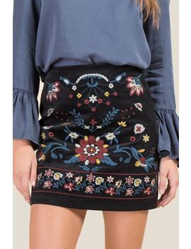 Hillary Embroidered Front Skirt by Francesca's