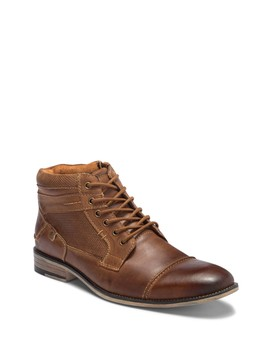 Karrin Cap Toe Leather Boot by Steve Madden