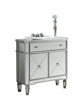 Mirrored Accent Cabinet   Silver   Every Room by Every Room
