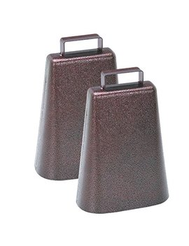 7 Inch Steel Cow Bell With Handle And Antique Copper Finish, 2 Pack by Harbor Freight
