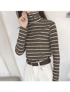 Lemonade   Long Sleeve Turtleneck Striped T Shirt by Lemonade