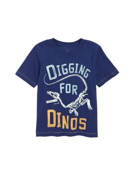 Digging For Dinos Glow In The Dark T Shirt by Peek