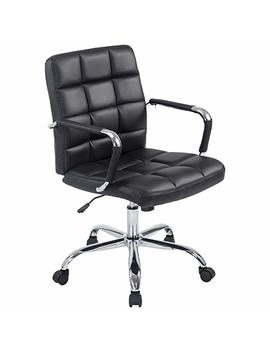 Poly And Bark Manchester Office Chair In Vegan Leather, Black by Poly & Bark