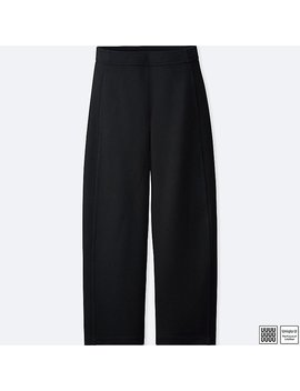 Damen U Weite Ponte Hose by Uniqlo