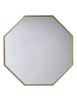 John Lewis & Partners Zelda Octagonal Mirror, 80 X 80cm, Antique Brass by John Lewis & Partners