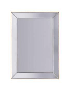 John Lewis & Partners Niklas Rectangular Distressed Gold Edged Mirror by John Lewis & Partners