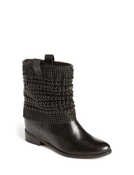 Women's Black Annik Hidden Wedge Boot by Schutz