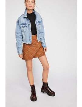 Overlapping Raw Mini Skirt by Free People