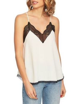 Lace Trimmed Racerback Camisole by 1.State