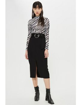 Ring Buckle Midi Skirt by Topshop