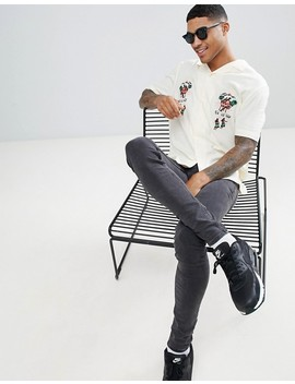 Asos Design Oversized Revere Shirt With Embrodiery by Asos Design