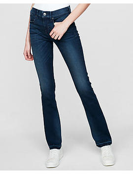 Mid Rise Barely Boot Denim Perfect Stretch+ Jeans by Express