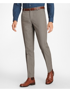 Milano Fit Mini Check Stretch Advantage Chinos® by Brooks Brothers