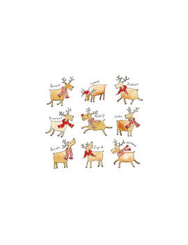 The Almanac Gallery Rudolph's Gallery Christmas Cards, Pack Of 6 by The Almanac Gallery
