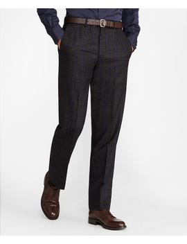 Regent Fit Plaid Trousers by Brooks Brothers