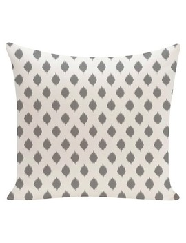 Ikat Print Throw Pillow   E By Design by E By Design
