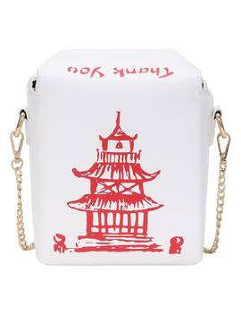 Chinese Takeout Box Chain Bag by Sheinside