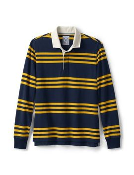 Men's Long Sleeve Stripe Rugby by Lands' End