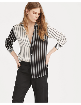 Striped Satin Button Down by Ralph Lauren