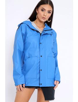 Royal Blue Hooded Rain Jacket   Fox by Rebellious Fashion