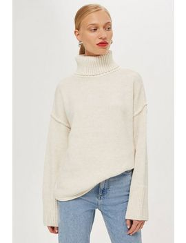 Petite Super Soft Ribbed Roll Neck Jumper by Topshop