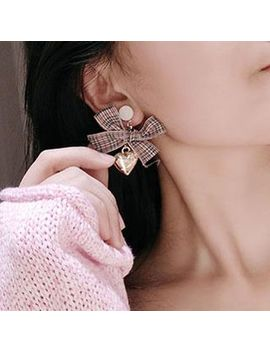Wind Valley   Plaid Bow Earring by Wind Valley