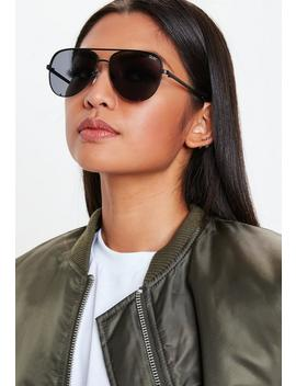 Quay Australia Black High Key Mini Sunglasses by Missguided