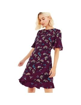 Oasis   Multi Purple 'oasis' Heritage Patched Skater Dress by Oasis