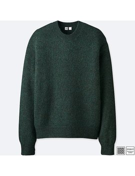 Men Uniqlo U Melange Crew Neck Long Sleeve Sweater by Uniqlo