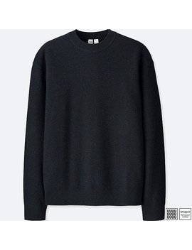 Men Uniqlo U Premium Lambswool Crew Neck Long Sleeve Sweater by Uniqlo