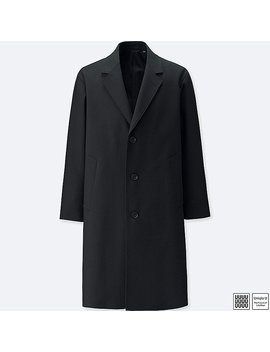 Men Uniqlo U Woolblended Chesterfield Coat by Uniqlo