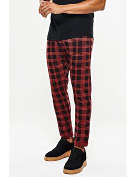 Tartan Jogger Trouser by Boohoo