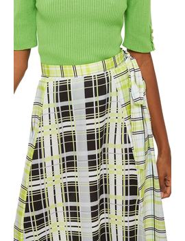 Obsession Mixed Check Print Midi Skirt by Topshop