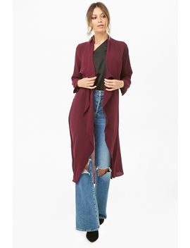 Crepe Duster Coat by Forever 21