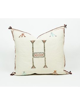 """Authentic 20"""" Moroccan Cactus Silk Pillow 
