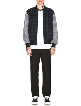 Mixed Plaid Bomber by Stussy