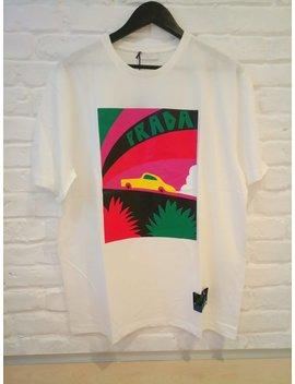 Prada Vintage Car Print T Shirt by Steelcactus