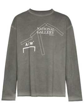 A Cold Wall*Acw Ntnal Gal Tee Ls Gr Yhome Men A Cold Wall*Clothing T Shirts & Vests by A Cold Wall*