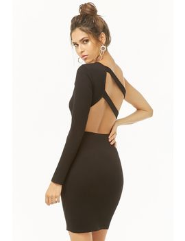 Strappy Ribbed One Shoulder Dress by Forever 21