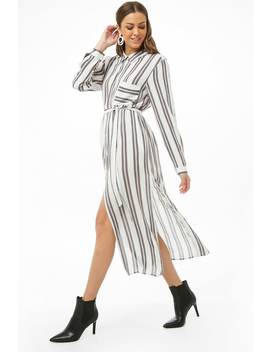 Striped Shirt Tunic by Forever 21