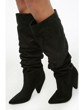 Slouchy Knee High Boots by Forever 21
