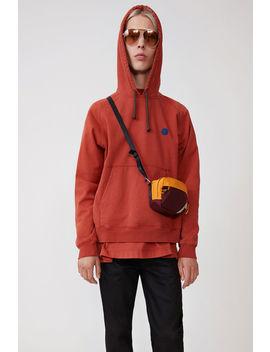 Hooded Sweatshirt Dusty Red by Acne Studios