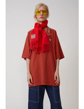 Oversized T Shirt Dusty Red by Acne Studios
