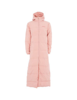 Pink Padded Longline Coat by Ellesse