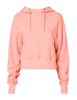Pink Cropped Hoodie by Re/Done
